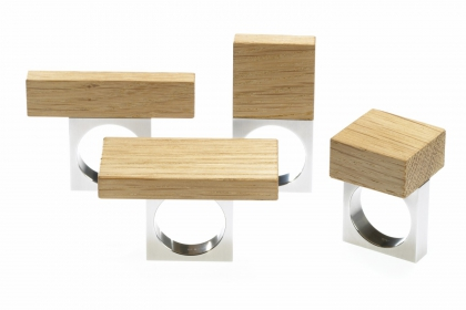 Stainless steel and wood
