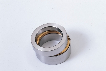 Stainless steel and gold